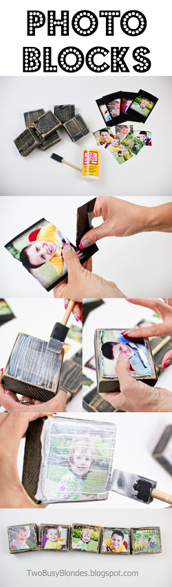 DIY PHOTO BLOCKS!! Fun, creative way to display photos