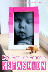 DIY Picture Frame Refashion Tutorial | Mimi, Mommy and Me: DIY Picture Frame Refashion Tutorial