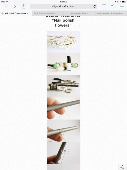 Search nail polish flower