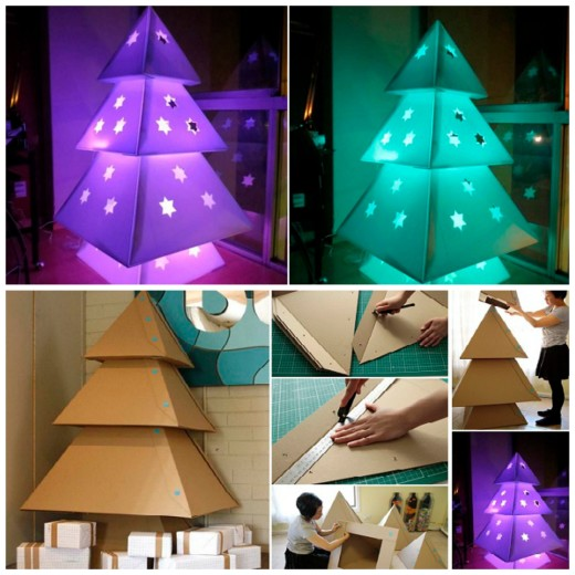 DIY Makedo Cardboard Christmas Tree