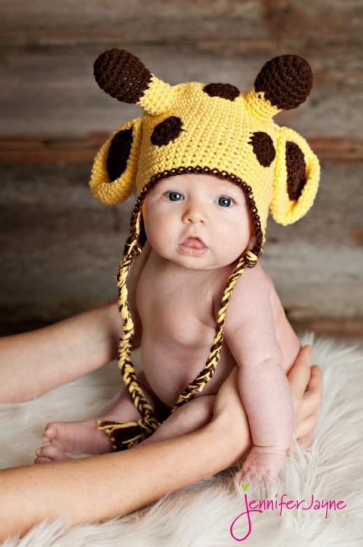 Giraffe crochet hat-free pattern