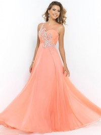 A-line/Princess Scoop Nice Sleeveless Beading Floor-Length Chiffon Gown