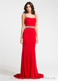 Ashley Lauren 1127 Beaded Straps Long Evening Dresses