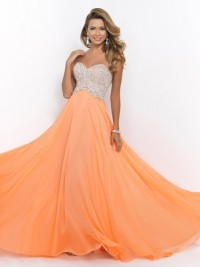 Princess Sweetheart Sleeveless Beading Floor-length Chiffon Formal Dress