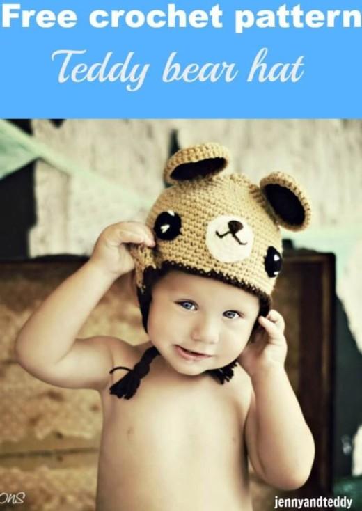 Crochet teddy bear hat | Free amigurumi and crochet patterns ... | 734x520